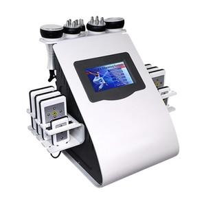 VENDAS QUENTES ULTRASONIC Cavitação Gorda Máquina de emagrecimento Lipo Laser Perda de Peso Rádio Frequência Apertação de Pele Beleza Equipamento 5 Cabeças