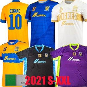 Liga MX 2021 2022 Tigres Uanl Futbol Formaları Üçüncü Uzaktan Gignac 21 22 Finaller Lopez Vargas Kadınlar 3rd Kaleci Futbol Gömlek Camisetas