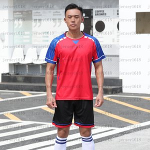 083Children's Football Football Training Suit Boys 'Quick Sticking Sports Suit Summer Manica Corta Studente Student Football Genit Bambino vestito