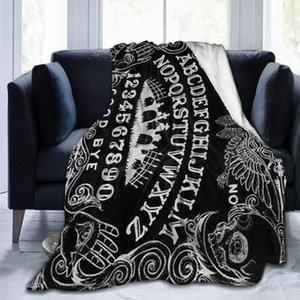 Blankets Ouija Board Black Ultra-Soft Fleece Blanket Flannel Velvet Plush Throw