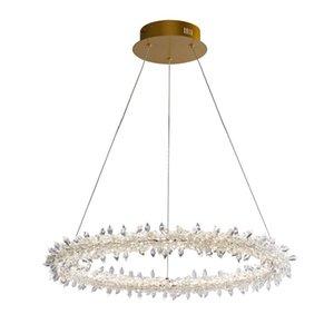 Moderno Gold Metal Crystal Chandelier Hotel Villa Home Living Room Decor Light Light LED Fixture PA0503