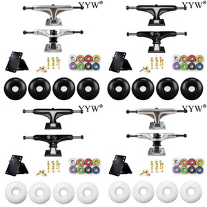 1 Set Skateboard Accessories Trucks Wheels Bearings ABEC-11 Bolts New Replacement fit Double Single Kicktail Cruiser Skate board L0308