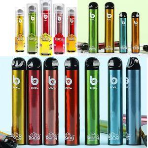 Bang XXL Dispositivo de vagem descartável E-Cigarros Vape Pen Kit 2000 Puffs 6ml DHL GRÁTIS 20 Opções VS Pro Max Interruptor XL