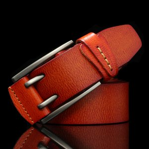 Hreecow Винтажный стиль Pin пряжка коровы натуральные кожаные ремни для мужчин Высококачественные мужские джинсы пояс Cinturones Hombre