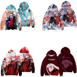 Japan Anime Darling In The Franxx Cosplay Costume HIRO ZERO TWO ICHIGO MIKU KOKORO Unisex 3D Hoodies Sweatshirts Streetwear