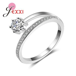 Wedding Rings Latest Design Crystal Female Accessory Luxury 925 Serling Silver Promise For Women Party
