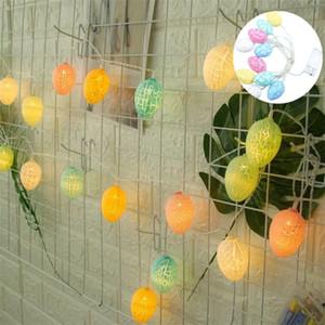 LED Hollow Egg Shape Light Plastic Crack Decorative Pattern Eggshell Lights Easter Estival Supply String Lamps Celebration No Battery 7cx G2