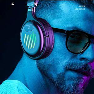 Cuffie Bluetooth senza fili con microfono Gaming Headset Bluetooth 5.0 3D Stereo Pieghevole Pieghevole LED Light Scheda TF per cellulare TM-061