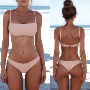 Sexy Push Up Unpadded Brazilian Bikini Set Women Vintage Swimwear Swimsuit Beach Suit Biquini Bathing Drop Ship