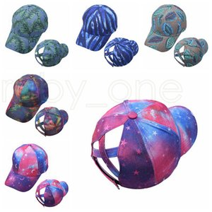 Tie Dye Ponytail Baseball Caps Washed Trucker Hats Cap Outdoor Visor Snapbacks Caps Peaked Hat Party Hats 5styles RRA4179