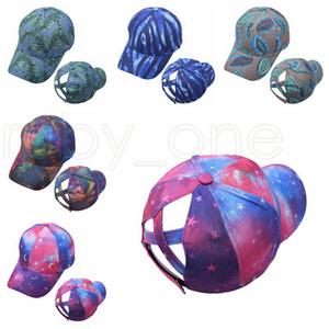 Tie Dye Ponytail Baseball Caps Washed Trucker Hats Cap Outdoor Visor Snapbacks Caps Peaked Hat Party Hats 5styles RRA4179