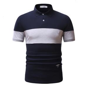 On saleOn brand saleMen's new stylish personality business casual matching slim short sleeve men polo shirt juventus streetwear