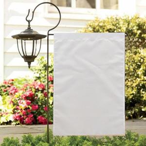 فارغة تسامي حديقة العلم 100٪ البوليستر فارغة أعلام راية بيضاء مزدوجة الجانبين الطباعة نقل الحرارة الطباعة حديقة راية * 35 سنتيمتر