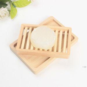 Оригинальность стойки мыла лоток для хранения ящик для хранения блюда двойной DIY два слоя палуба женщина мужчина мода поставки деревянные держатель ванна HWA4228