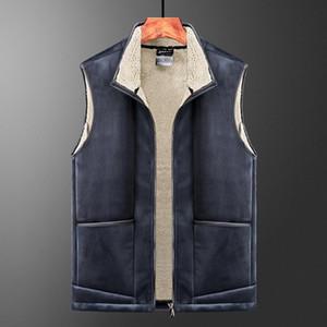 Men's Vests Comlion Brand Autumn Winter Casual Sleeveless Jacket Men Warm Fleece Mens Vest Thick Lamb Wool
