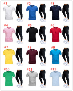 2X plus size tracksuits summer men outfits 2 piece set short sleeve clothes jogger suit T-shirt+Pants sports set casual Men's sweatsuit 3400
