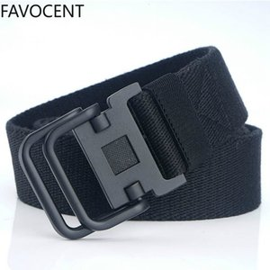 2021 New Men Army Tactical Belts Male Sport Double Buckle Weave Nylon Canvas Jeans Belt High Quality Unisex Military Y131