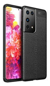 Slim Litchi Leather Soft TPU Case For Samsung Galaxy S21 Ultra Note 20 Ultra S20 FE Note 10 S10 Plus A71 A51 5G