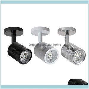 Deco El Supplies Home & Gardenled Ac90-260V 3W 5W Modern Bedroom Bedside Lamp Black Sier White Body Degree Angle Adjustable Wall Light Drop