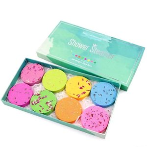 Bath Salts Gift Set Organic Natural Pure Essential Oils Fizzers Shower Bomb Tablets Showers Steamer for Aromatherapy