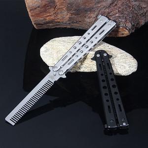 Couteau de formation de papillon de haute qualité Couteau d'entraînement en acier inoxydable Couteau de papillon Pratique Pratique débutant Outil de formation de peigne HW140