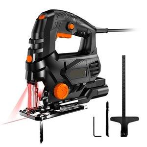FreeShipping 850 Вт Лазерный Jigsaw Electric 5 Переменная Скорость Джига Пила для Деревообрабатывающей электрической пилы 110 В / 220 В Резка металла Металл Алюминий