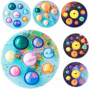 DHL finger pressing bubble planet Fidget Toys Push pioneer educational toy kneading children's anti stress relief