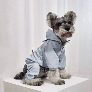 Dog Raincoat Clothes Mesh breathable Waterproof Rain Jumpsuit For Small Dog Outdoor Sweat-Absorbing Reflective Pet Clothing Coat
