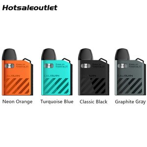 Uwell Caliburn AK2 Kit 15W 520mAh Built-in Battery Electronic Cigarette Vaporizer 2ml A2 Cartridge Pod System fit UN2 Meshed-H 0.9ohm Coil Replacement Authentic