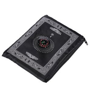 Islamic Prayer Rug Portable Braided Mat Portable Zipper Compass Blankets Travel Pocket Rugs Muslim Prayer Rugs Muslim Worship