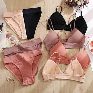 Finetoo Slips Sport Sexy Hohe Taille Nahtlose Aktiv BH Frauen Dessous Set Fitness Crop Top Unterwäsche