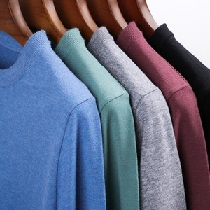 2021 Top Quality Autum Fashion Brand Knit Solid Color Pullover O Neck Knitted Sweater Men Designer Casual Jumper Mens Clothes