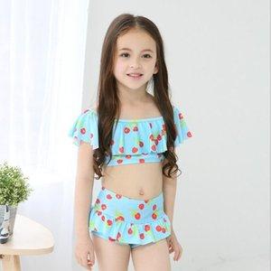 Son Bikini Mayo Kız Çocuk Mayo Çocuk Yüzme Aşınma Etek Seksi Bikini Mayo Çocuk İç Çamaşırı Mayo Q0220