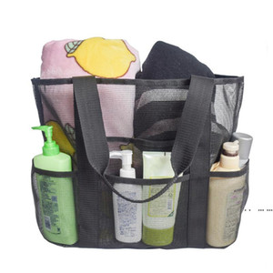 Mesh Beach Bag Large Lightweight Market Grocery Picnic Beach Tote Green Blue Black Beach Toy Bags FWA4058