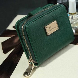 Leather Portfolios Zip Women Wallet On Mujer Cardholder Green Billetera Pu SaleLady Clutch Case Pink Short Kibid