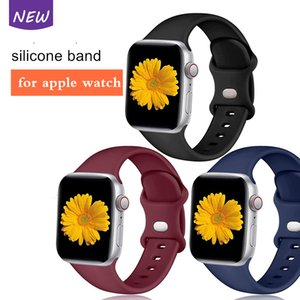 Bande de montre en silicone souple coloré pour Fitbit Versa3 / Sense Sport Sangle pour Apple Watch Series 1 2 3 4 5 6 SE Bande de rechange 38/40 / 42 / 44mm