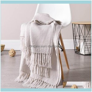 Blankets Textiles Home & Gardenblankets 130*160Cm Throw Blanket For Bed Lightweight Soft Perfect Layering Decorative Kids Room Sofa Drop Del