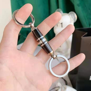 Fashion men keychain famous designer keyring made stainless steel never change color gift for man have box