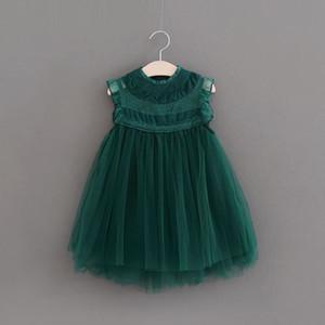Girls Lace Tutu Dress Kids Clothing 2018 Summer Flower Fashion Sleeveless Vest Princess Tulle Dress FF-251 mc