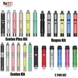 Autentico YOCAN EVOLVOL-D EVOLVE PLUS REGEN Armatura X Pod Starter Kit Wax Dry Herb Vape penna vaporizzatore batteria QDC QTC Atomizer originale