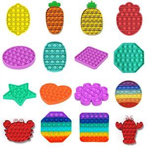 Push Bubble POP IT Fidge Sensory Toy Toy Silicone Reverever Стресс Безрегающий Аутизм Специальные нужды Мягкий Сжатие Игрушки