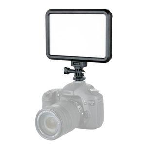 Luz de vídeo LED 1200lm para estúdio portátil alimentado por bateria de alta potência DSLR câmera flash lâmpada dimmable com sapata quente 12w