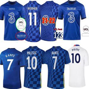 21 22 Jersey pulisecic Jersey Werner Ziyech 2021 2022 Camisa de futebol Abraham Kante Havertz Chilwell Mount Men Jerseys