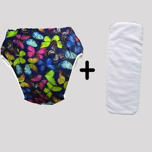 Adult Cloth Diaper Urinary Incontinence teenagers nappy cover with inserts Reusable Insert Inner grid ABDL XS-Large Size 210312
