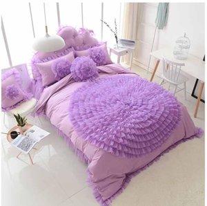 Bedding Sets Lace Flower Design Princess Bedspread Set Girls Bedclothes Wedding Decoration Duvet Cover Bed Sheet Cotton Pillowcases