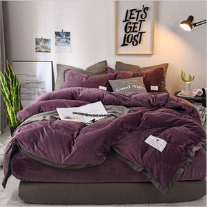 Factory direct selling popular luxury crystal bedding set down quilt cover sheet 4 pieces   set winter bed linen large double bed velvet hom