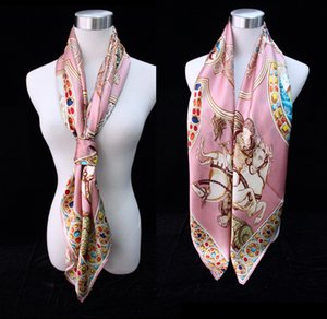 New fashion and popular all-match silk crepe satin 110cm square scarf for women silk mulberry silk scarf