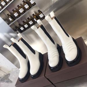 Botas de marca Mid-bezerro botas em tempestade Cuir mulheres plataforma botas 2019 nova moda senhora boot designer de luxo mulheres botas