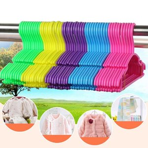 10pcs Children Portable Store Hook Coat Hotel Clothes Hanger Home Organizer Tool Kids Anti Slip Solid Wet Dry Toddler Baby