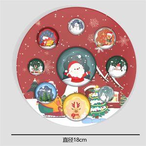 18cm Rainbow Tie Dye Large Size Christmas Push Poppers Bubble Decompression Fidget Toys Fashion Cute Children's Bubbles Finger Silicone Toy Game Gift G93WMK2